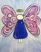Angel canvas painting