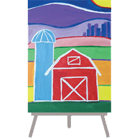 creative art series in-school field trip - ted harrison prairie