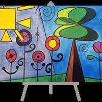 creative art series in-school field trip - joan miro landscape