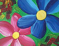 creative art series in-school field trip - georgia o'keefe purple petunias