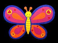 creative art series in-school field trip - other artist butterfly