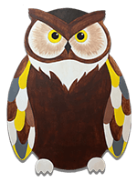 creative art series in-school field trip - other artist great horned owl