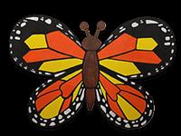 creative art series in-school field trip - other artist monarch butterfly