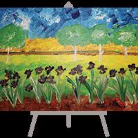creative art series in-school field trip - vincent van gogh irises