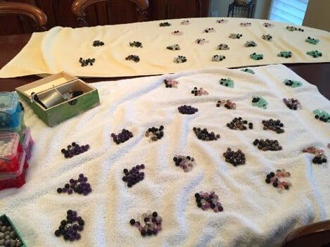 teacher's pet giving back - shake it off design - beads