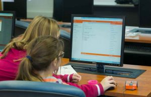 girls coding with edison - stem robotics in-school field trip