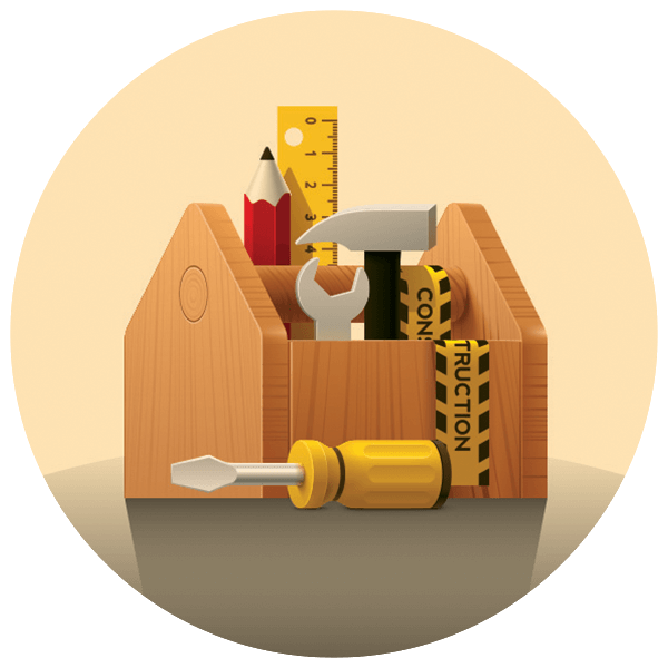 wood projects toolbox in-school field trip icon